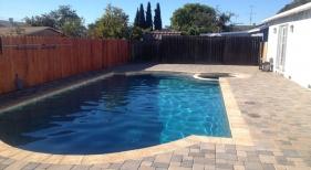 Geometric Pool with Bright Blue Finish