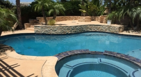 Freefrom Pool and Spa with Bright Blue Finish