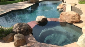 Freefrom Pool and Spa with Green Finish