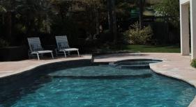Freeform Pool with Leveled Spa